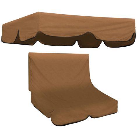 Housse de siège de rechange pour baldaquin de chaise de jardin pivotante 2/3 places E