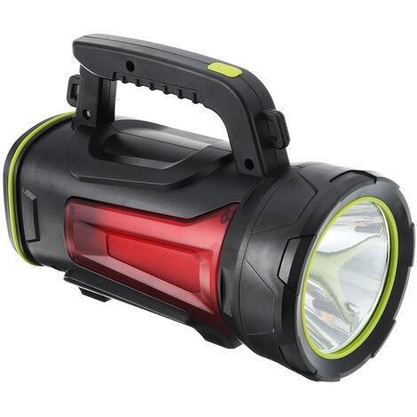 500W Lampe de Poche Rechargeable Etanche Torche Avec Lumière Latérale 3500LM 10000mAh