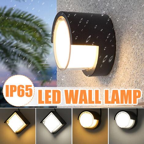20W Applique Murale LED Aluminium Imperméable IP65 10cm Appliques Lampe Murale (Blanc, Lumière Blanche Ronde 4000K)