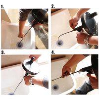 5M Drain Unblocker Flexible Rod Auger Snake Pipe Cleaner Toilette Plomberie Outil