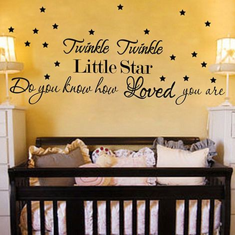 Twinkle Twinkle Little Star Amovible Sticker Autocollant Art Mural Maison Déco