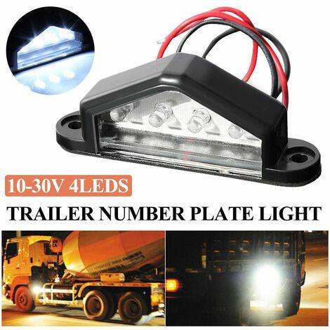 Royal-K 4-LED Feux Lampe Plaque D'immatriculation Nombre Blanc étanche Remorque Camion
