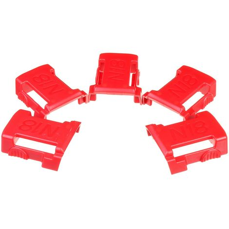 5 pièces 18 V supports de batterie pour MILWAUKEE M18 étagère de stockage support de support de fentes support
