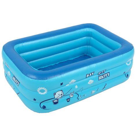 Piscine Gonflable Enfant Baignoire Usage Domestique Pataugeoire 1.2m LAVENTE