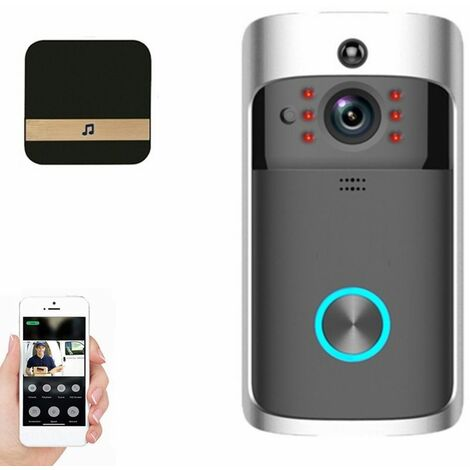 Sonnette de caméra sans fil intelligente WiFi de sécurité à domicile Full HD 1080P