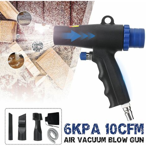 Mini compresseur de plumeau d'air haute pression 2 en 1 pistolet de soufflage / d'aspiration de type pistolet outil de nettoyage pneumatique à économie d'énergie