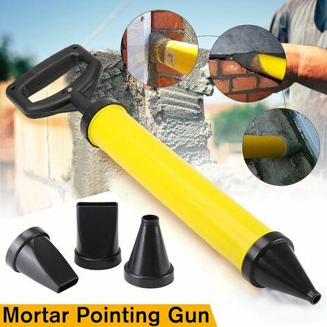 Quatre têtes pistolet de jointoiement truelle de jardin applicateur en plastique porte mortier outil applicateur seringue ciment calfeutrant dispositif Lance