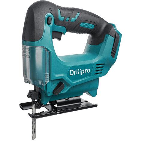 Drillpro Scie sauteuse 65mm 2900 tr/min 50-60Hz pour Batterie MAKITA 18V(Machine Seule)