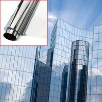 300x75cm Miroir Film Autocollant Pare-soleil Teinte Sticker Adhésif Fenêtre Voiture Vitre Decoration
