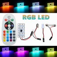 RGB Ampoule Voiture Dome Lecture Ambiance 5050 SMD + Télécommande