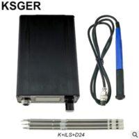 KSGER T12 STM32 V3.1S Station de fer à souder à souder OLED DIY Poignée en plastique Outils électriques Chauffage rapide T12 Fer Conseils 8s Boites 907 9501 Poignée avec 3Pcs T12 Conseils A