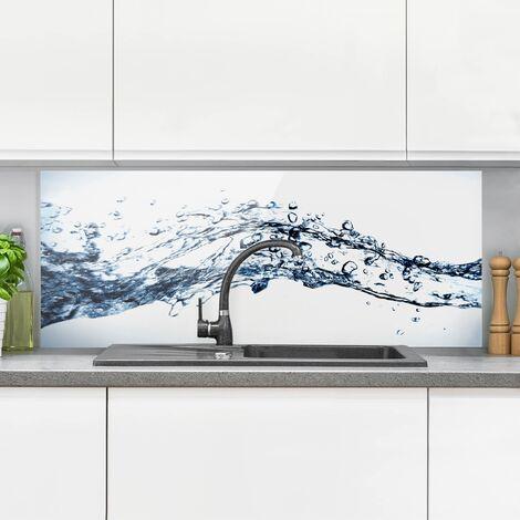 Spritzschutz Glas - Water Splash - Panorama Quer Größe HxB: 40cm x 100cm
