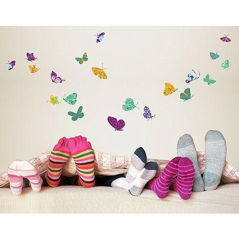 Wandtattoo Schmetterling No Rs74 Bunte Schmetterlinge Grosse Hxb 80cm X 48cm 0 0 464469