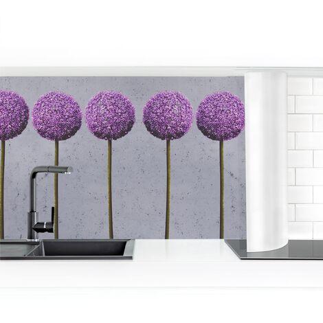 Küchenrückwand - Allium Kugel-Blüten I Größe HxB: 50cm x 50cm Material: Smart