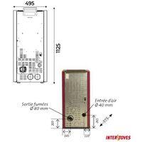 Poêle à granules ADA 15 KW - différent coloris