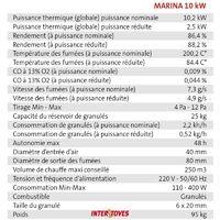 Poêle à granules MARINA 10KW - Noir