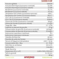 Pack Poêle à granules GIANNI 9KW Etanche + Kit Conduit Ventouse (sortie façade) - Bordeaux