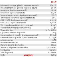 Pack Poêle à granules MARINA 14KW Etanche Canalisable + Kit Conduit Ventouse (sortie façade) - Bordeaux + Télécommande + WIFI