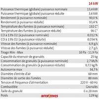 Pack Poêle à granules MARINA 14KW Etanche Canalisable + Kit Conduit Vertical 80/125 - Bordeaux + Télécommande + WIFI