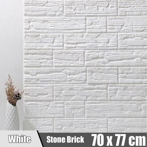 3D sticker mural autocollant brique décoration murale -en mousse -70 x 77 cm