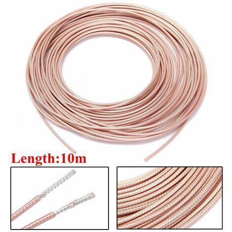 10m RG316 RF connecteur de cable coaxial 50ohm M17 / 60 RG-316 coaxial queue de cochon 32ft cable d'alimentation fil ruban plaqué cuivre