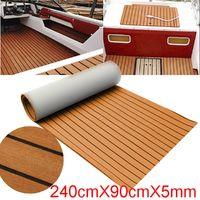 240X90Cm Marine Bateau Tapis Eva Teak Tack Decking Feuille Yacht Sheet Colle 5Mm