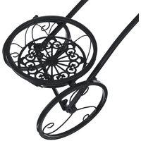 étagère à Fleurs en métal Forme de bicyclette Jardinière étagère de pot de fleur Grille Noir