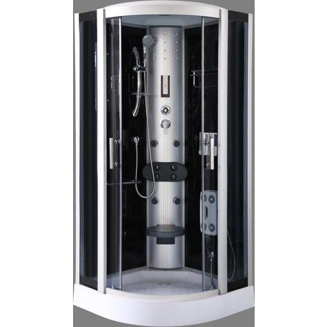 Cabina de ducha en negro DP-1301 (90 x 90 x 215 cm)