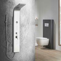 Columna de hidromasaje para ducha en aluminio modelo Madeira