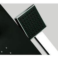 DP Grifería - Columna de hidromasaje en aluminio color negro modelo Bahamas