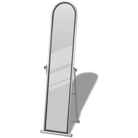 Miroir en fer sur pied gris HDV08268
