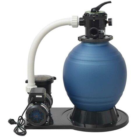 Hommoo Pompe de filtration à sable 1000 W 16800 l/h XL HDV32324