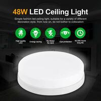 2 PCS Lámpara de Techo LED Forma Redonda Instalación Fácil Seguro Disipación de Calor 6000-6500K para Baño Dormitorio Cocina Sala de Estar Comedor Balcón Pasillo LLDUK-MA0105108X2