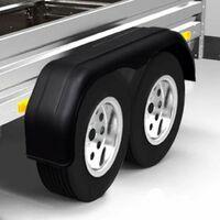 Hommoo Garde-boue en tandem pour roues de remorque 2 pcs 240 x 1650 mm HDV07760