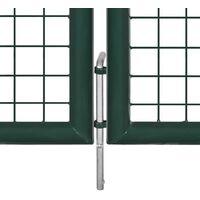 Portail de Clôture en Grillage Galvanisée 289 x 75 cm / 306 x 125 cm HDV03764