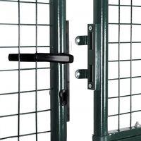 Portail de Clôture en Grillage Galvanisée 289 x 200 cm / 306 x 250 cm HDV03766