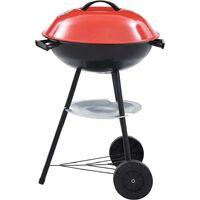 Hommoo Barbecue portable XXL au charbon avec roues 44 cm HDV45610