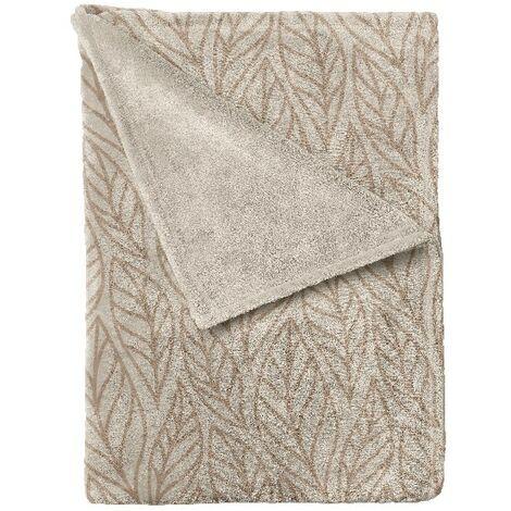 Manta Autumn - Plaid - para el sofa, la cama, la habitacion - Beige, Marron en Microfibra, 150 x 200 cm