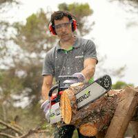 Tronconneuse GS750X moteur à essence 2 temps 75cc 4,8cv. Épée de 24 pouces. Épée dentelée. Guidon ergonomique. - Greencut