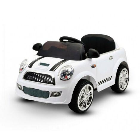 LT 848 Coche eléctrico para niños Baby Car monoplaza 6V doble motor | Blanco