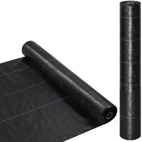518731 Rollo mantillo de plástico para huerto NEGRO Control de malezas 1x5mt
