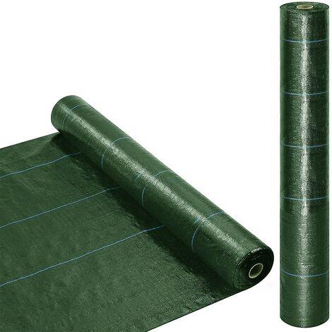 518724 Rollo mantillo de plástico para huerto VERDE Control de malezas 1x5mt