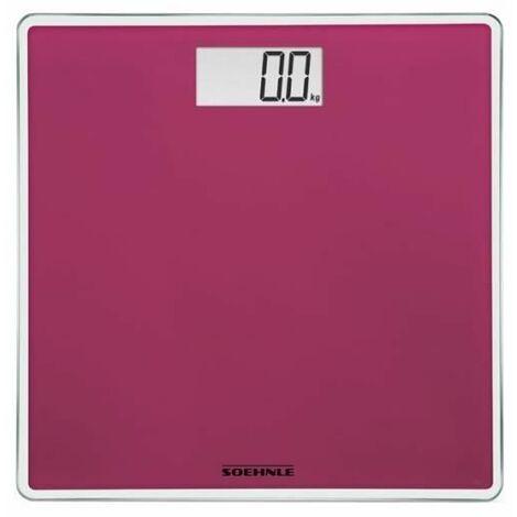 SoeHNLE Pese-personne Electronique Compact 200 - 180 kg/100g - Rose