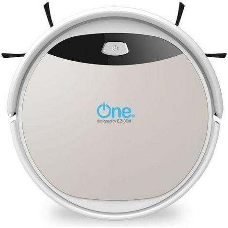 ONE Aspirateur robot laveur Aqua 210 - 60 dB - 120 min d'autonomie - Blanc