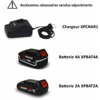 Aspirateur souffleur broyeur de feuilles 40V à batterie X-Performer XPASB40LI-2B - Sac 45L - sans batterie ni chargeur