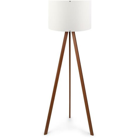 "Stehlampe ""AYD-1528"" Weiß /Braun 1xE27 Ohne Birne [OPV-780SGN2429] (OPV-780SGN2429)"