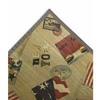 TAPPETO CUCINA IN LEGNO BAMBOO AMERICA NEW YORK Cm. 50x75