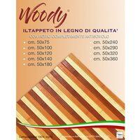 TAPPETO cucina WOODY © IN legno BAMBOO ARANCIO SFUMATO tutte le misure Cm. 50x75