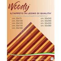 TAPPETO cucina WOODY © IN legno BAMBOO BORDEAUX SFUMATO BORDÒ tutte le misure Cm. 50x75