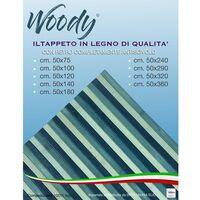 TAPPETO cucina WOODY ©IN legno BAMBOO BLU VERDE MARE SFUMATO tutte le misure Cm. 50x75